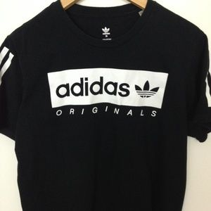 Adidas Originals Black White Women Medium T-Shirt